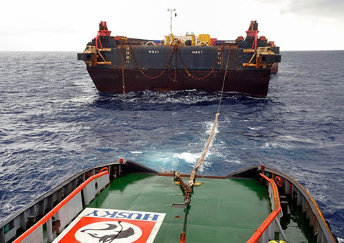 Photo of Heerema's H-851 barge courtesy of Jan Berghuis Terschelling